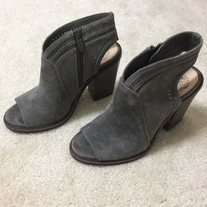 Vince Camuto Shoes - Vince Camuto Koral Heeled Peep Toe Suede Booties